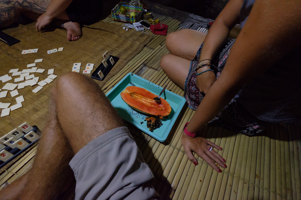 Ketut gave us half a papaya straight from the tree, it was delicious