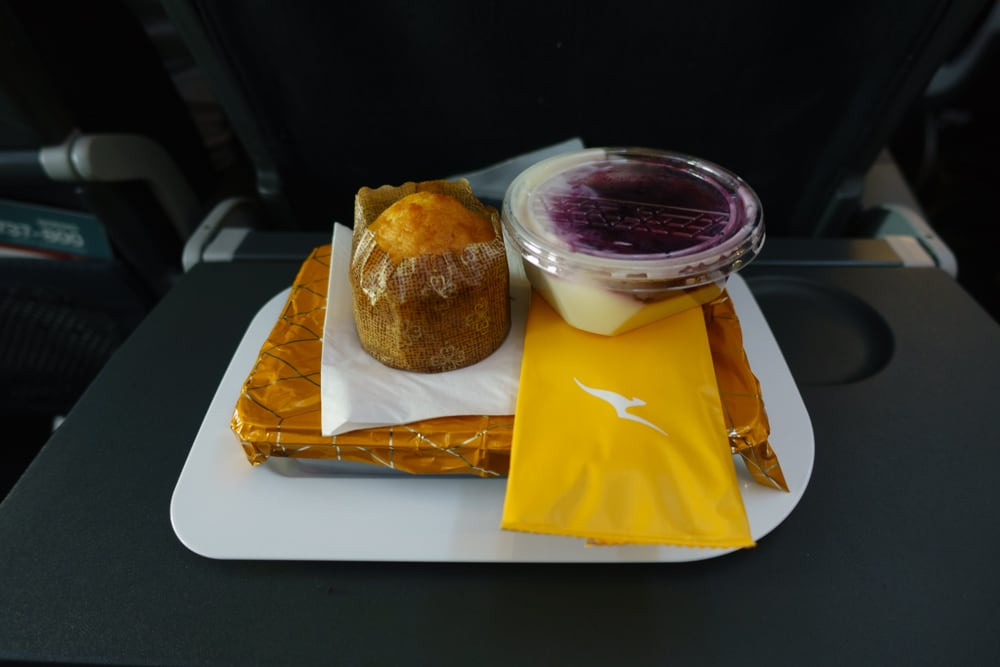 One of several meals. It wasn't just good for aeroplane food, it was actually fairly good food